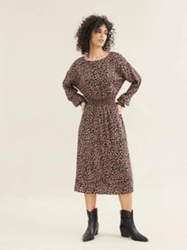 рокля с Животински печат