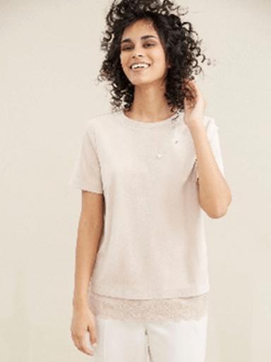 Бежовото е новото бяло = блуза