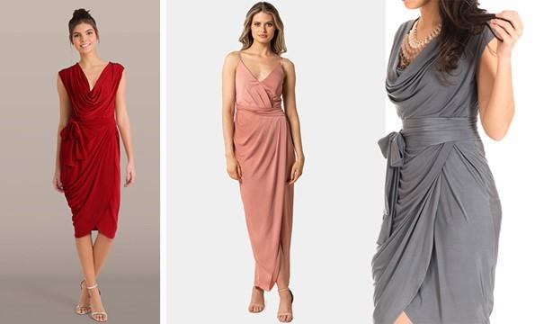 """Драпирани рокли с всякаква дължина и драпирани блузи """"придават"""" обем на тънък торс"""